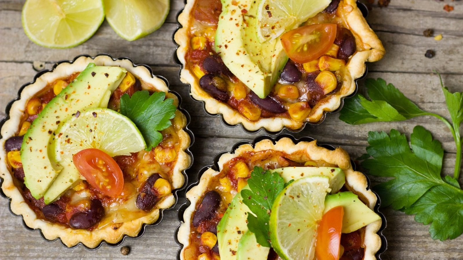 Mexican Avocado Tart Lime Tartelette Mini