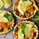 Mexican Avocado Tart Lime Tartelette Mini